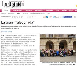 Talegonada | La Opinion de Zamora